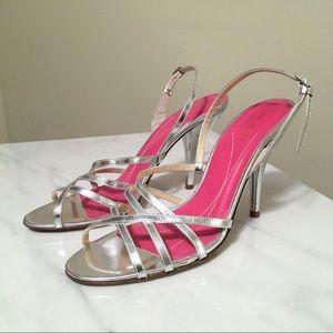 ♠️ Kate Spade NY Silver Strap Dress Heels Size 7.5